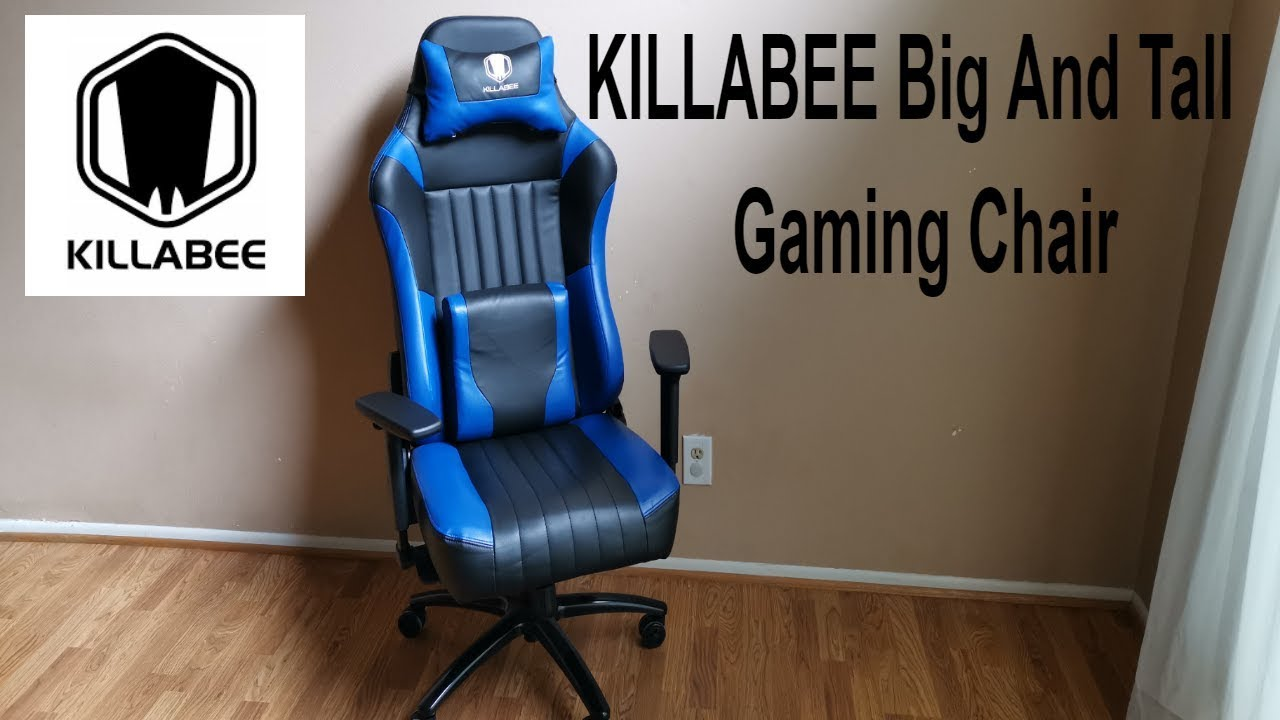 Gaming Chair For Big Guys Killabee Big Tall Memory Foam Gaming Chair Review Adjustable Tilt Back Angle 3d Arms Leather