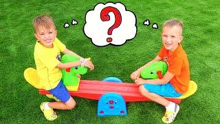Vlad dan Niki bercerita tentang bagaimana anak anak menginginkan mainan yang sama