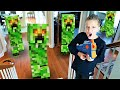 Minecraft Creeper Invasion!  Omega Sends New Nerf Blaster to Payback Time