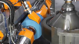 Liebherr - Gear Grinding Machine LCS 700 with ring loader and heavy duty conveyor