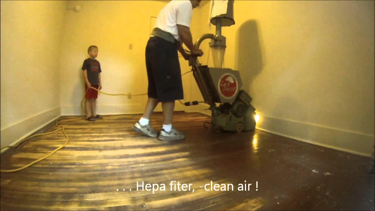 New Dustless Floor Sanding Technology Youtube