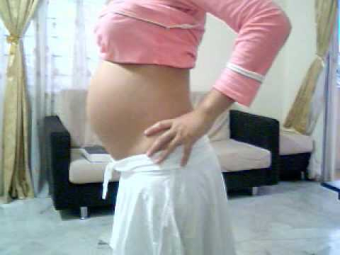 21 weeks Pregnant Belly - YouTube