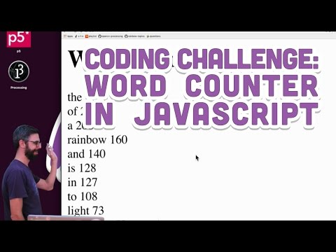 Coding Challenge #40.1: Word Counter in JavaScript
