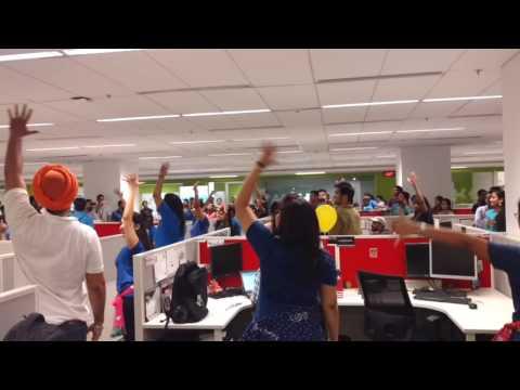 Aon Gurgaon employees Dance performance