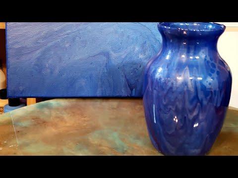Acrylic & resin vase tutorial. Acrylic Art By
