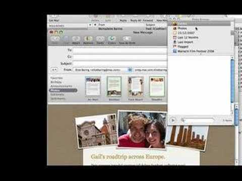 Apple Mail: Stationary (create awesome emails)