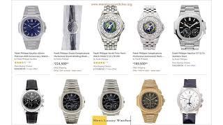 Liste de prix de montres pour homme Patek Philippe 2019