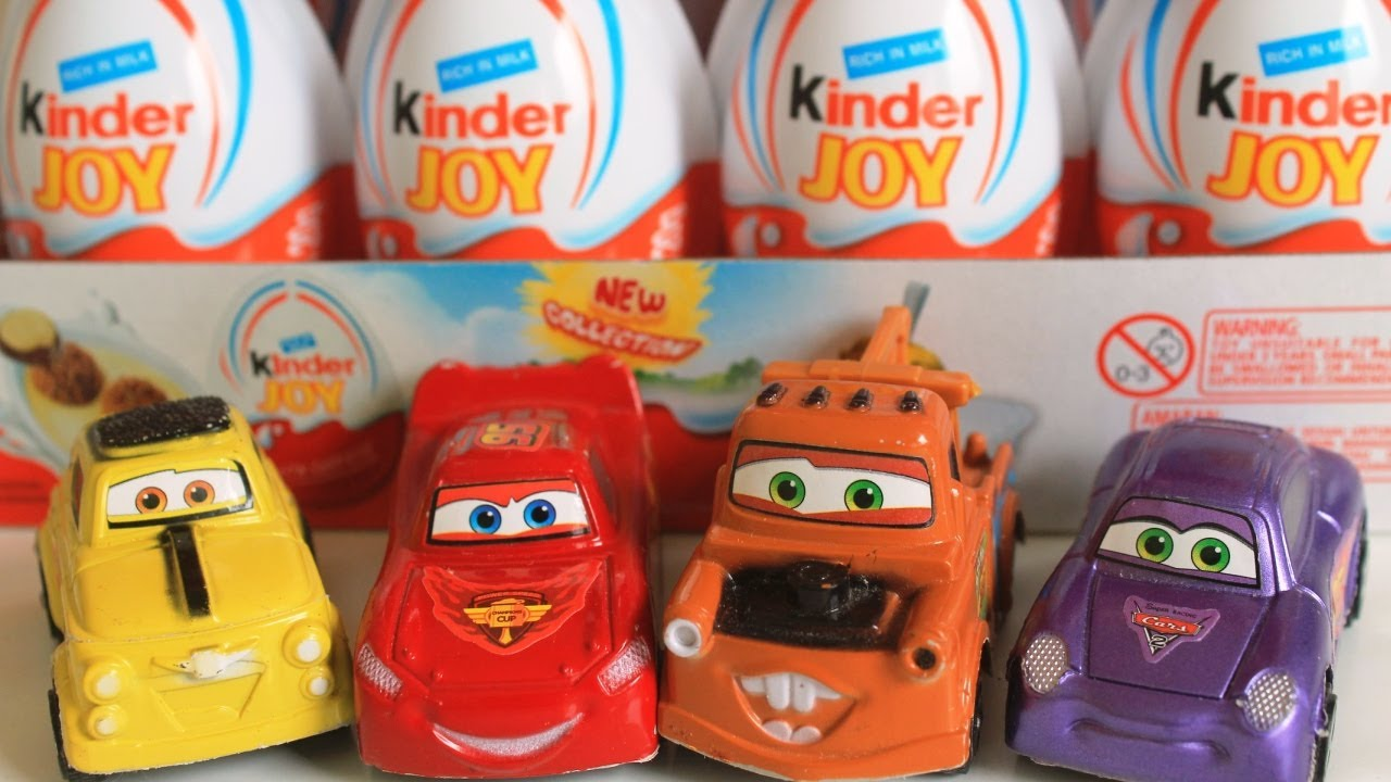Surprise Eggs Cars 2 Lightning Mcqueen Mater Kinder Joy Surprise Toys