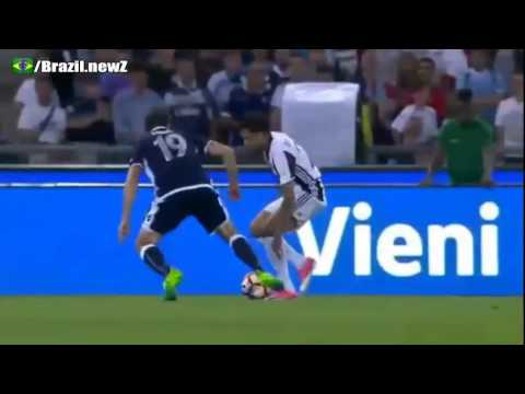 Dani Alves Nutmeg Vs Lulic - Juventus 2 - 0 Lazio