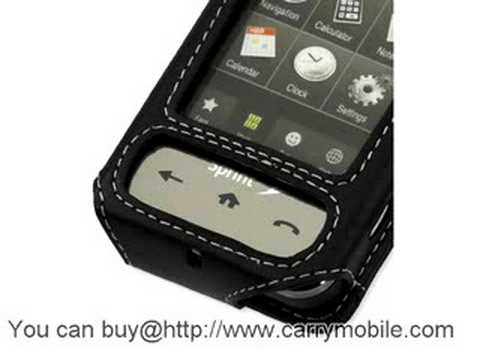 Carrymobile Leather Case for Samsung SPH-M800 Sprint Instinct - Sleeve Type (Black)