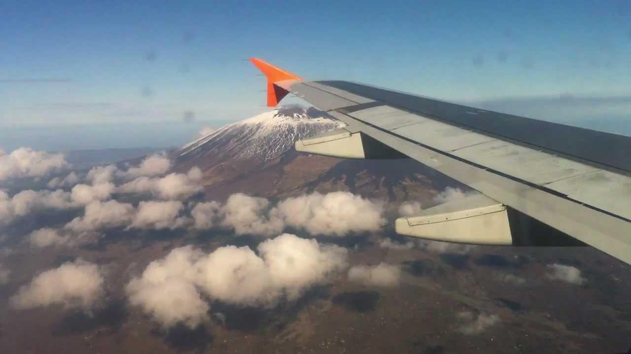 Aereo Privato Catania : Aereo in volo sull etna e sicilia orientale youtube
