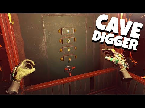 OPENING the SECRET VAULT! - Cave Digger VR Gameplay - HTC Vive Gameplay