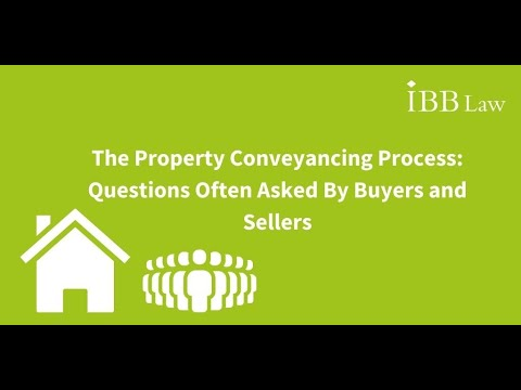 The Property Conveyancing Process: Questions Often Asked By Buyers and Sellers