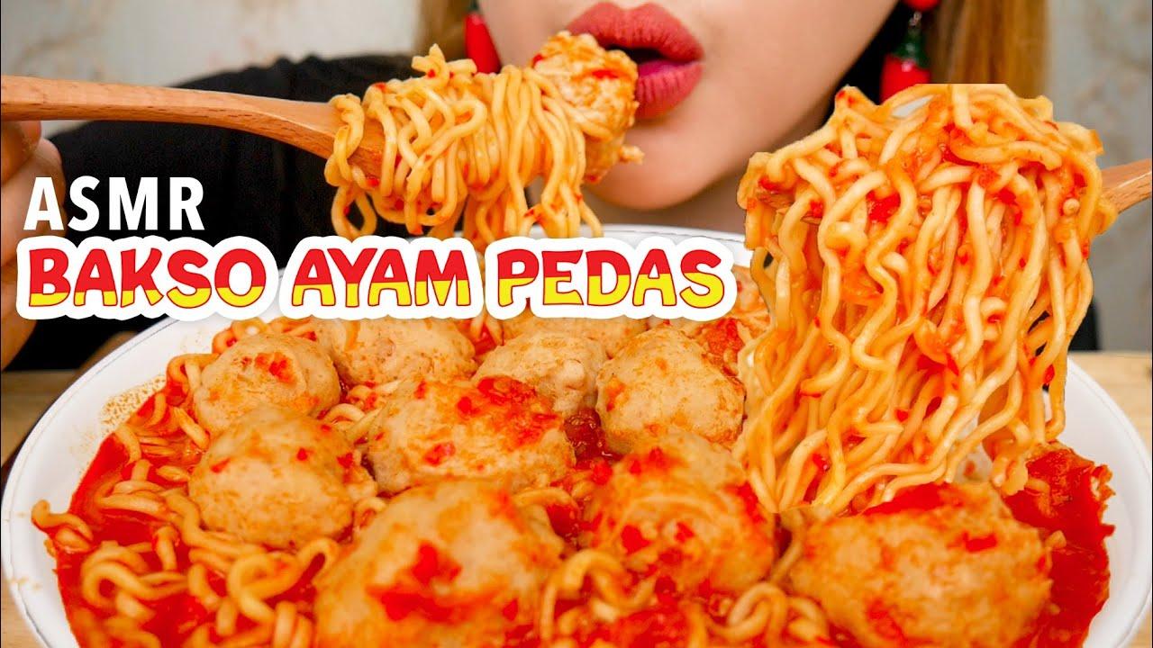 ASMR BAKSO AYAM KUAH CABE PEDAS | ASMR Indonesia
