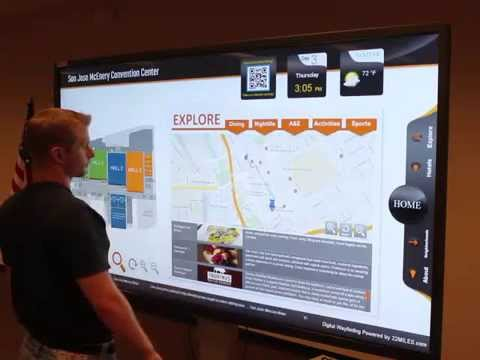 Waytouch Premier™ - 3D Wayfinding Digital Signage for Convention Centers