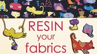 How To Resin Your Fabric Scraps - Make Jewelry, Buttons, Pins,...  by Little Windows