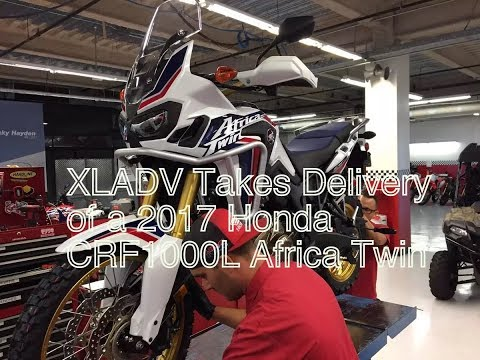 Picking up a 2017 Honda Africa Twin from the Factory!