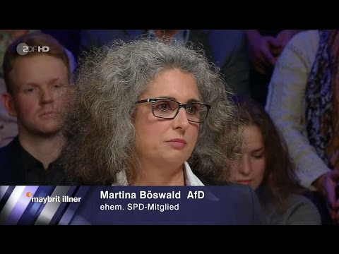 Der Siegeszug der Populisten? Martina Böswald AfD 17.11.2016 Maybrit Illner - Bananenrepublik