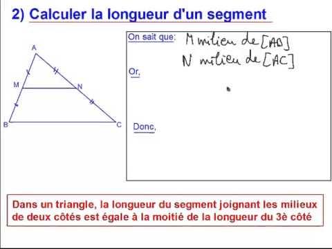 Triangles et parall les capsule 2 calculer la longueur d for Longueur d un court de tennis
