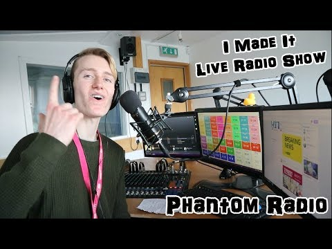 I MADE IT!!! MY OWN LIVE RADIO SHOW (PHANTOM RADIO)