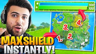 Epic Added *INSTANT* MAX SHIELD Spots! (VERY Broken!) - Fortnite Battle Royale Trick