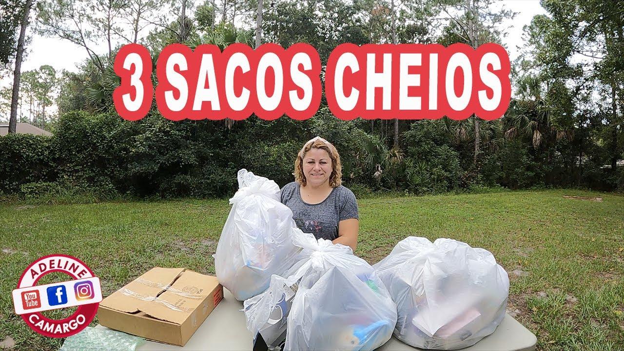 ENCONTREI 3 SACOS CHEIO DE COISAS NO LIXO DA LOJAS | AI TEM COISA