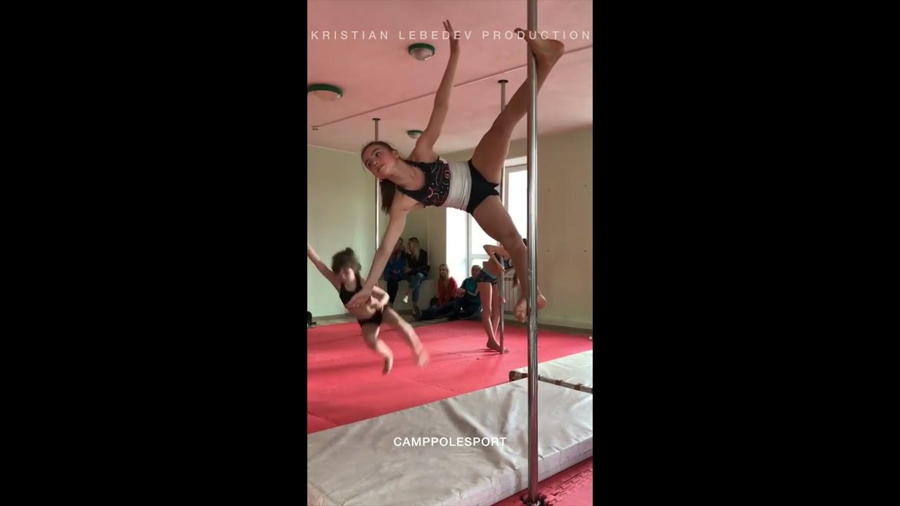 Pole sport kids training gymnastics | Тренировки по Воздушной гимнастике дети