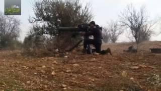 صاروخ تاو يستهدف مجموعة ضباط من قوات الأسد بريف حماة