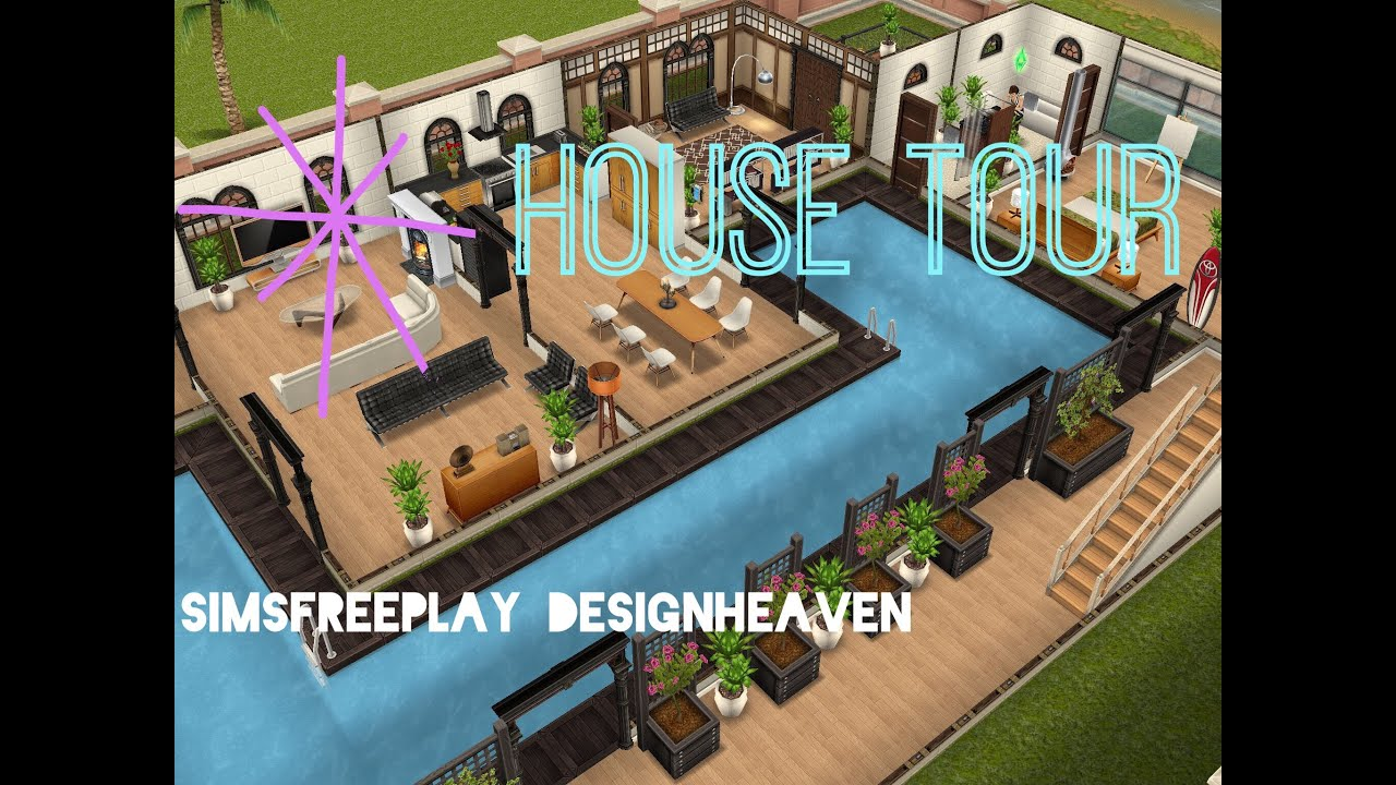 Sims Freeplay House Tour Beachside Mansion YouTube