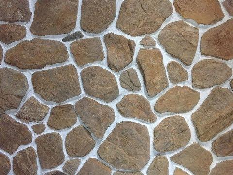 Галтованный камень на фасаде и в интерьере