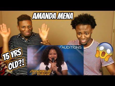 Amanda Mena: The 15-Year-Old Earns Golden Buzzer From Mel B - America's Got Talent 2018 (REACTION)