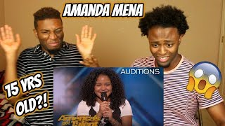 Amanda Mena: The 15-Year-Old Earns Golden Buzzer From Mel B - America's Got Talent 2018 (REACTION)