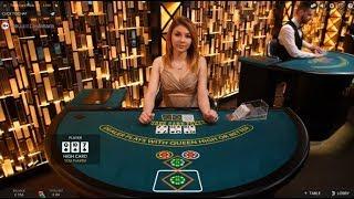 £400 Vs Live Dealer Three Card Poker Session