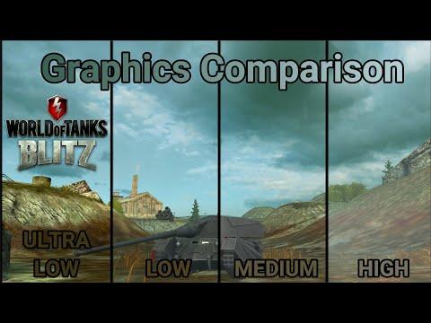 WOT Blitz Graphics Comparison // Ultra Low Vs High
