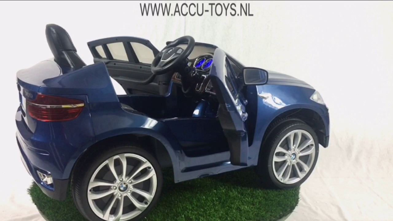 elektrische kinderauto bmw x6 met 12 volt accu en. Black Bedroom Furniture Sets. Home Design Ideas
