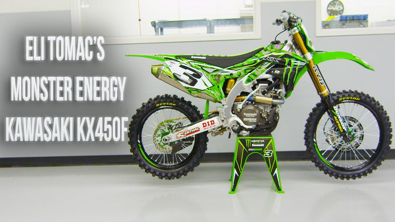 Inside Eli Tomac's Factory Monster Energy Kawasaki KX450F||Motocross