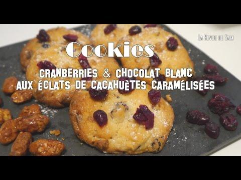 recette-de-cookies-aux-cranberries,-chocolat-blanc-aux-cacahuètes-caramélisées