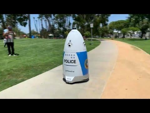 شاهد: شرطي روبوت لمكافحة الجريمة في كاليفورنيا  - نشر قبل 3 ساعة