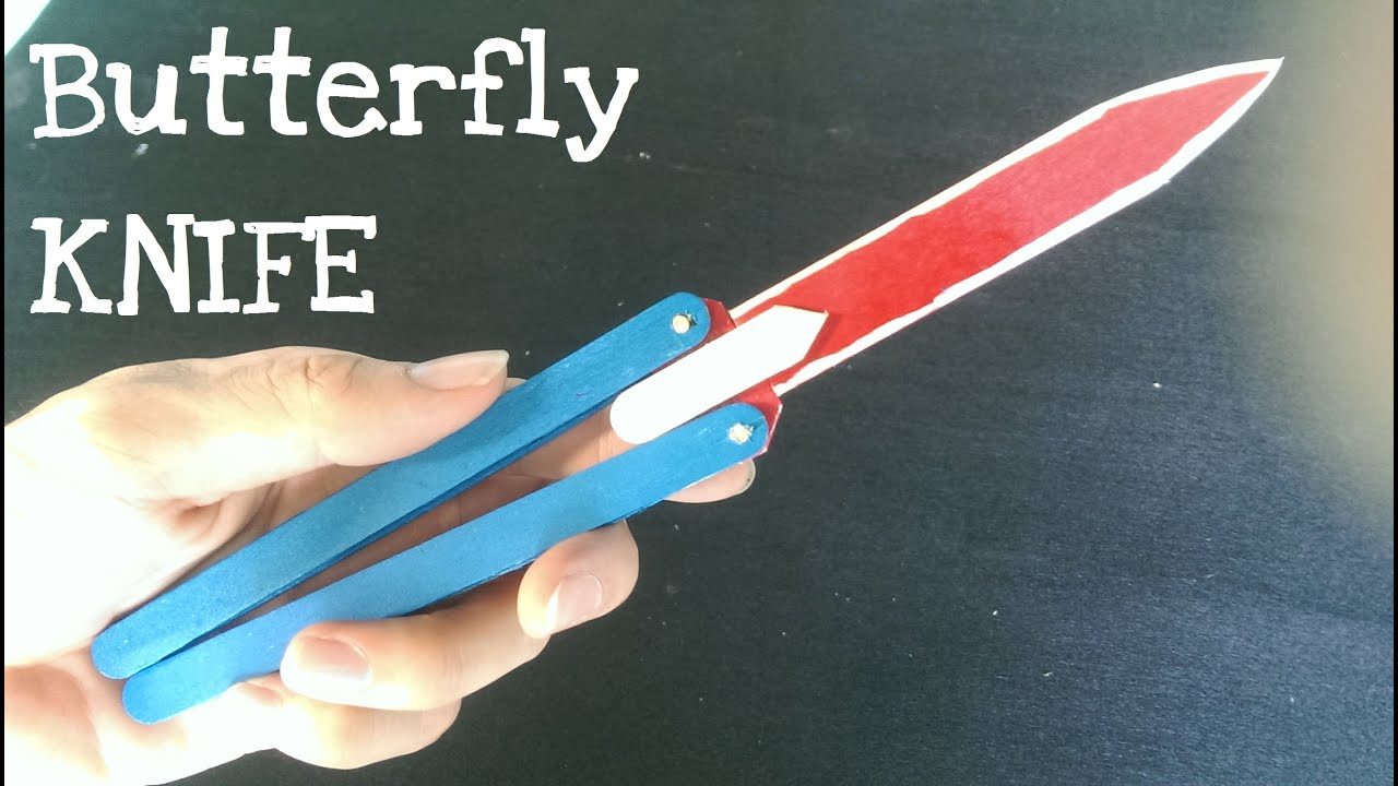 how to make a butterfly knife balisong using popsicle sticks