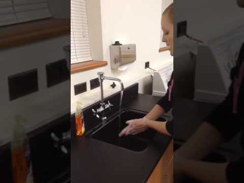 instructional video- infection control/hand washing