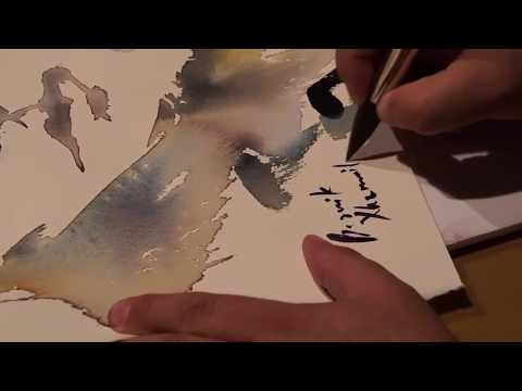 Watercolor Portrait Demonstration Artist Besnik XHEMAILI