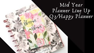 Mid Year Planner line up|Q3|Happy Planner
