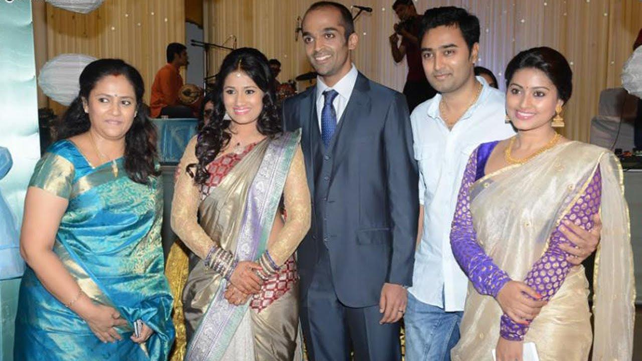 lakshmy ramakrishnans daughter wedding reception youtube