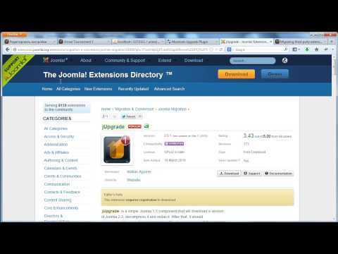 Обновление Joomla 1.5 до Joomla 3.3