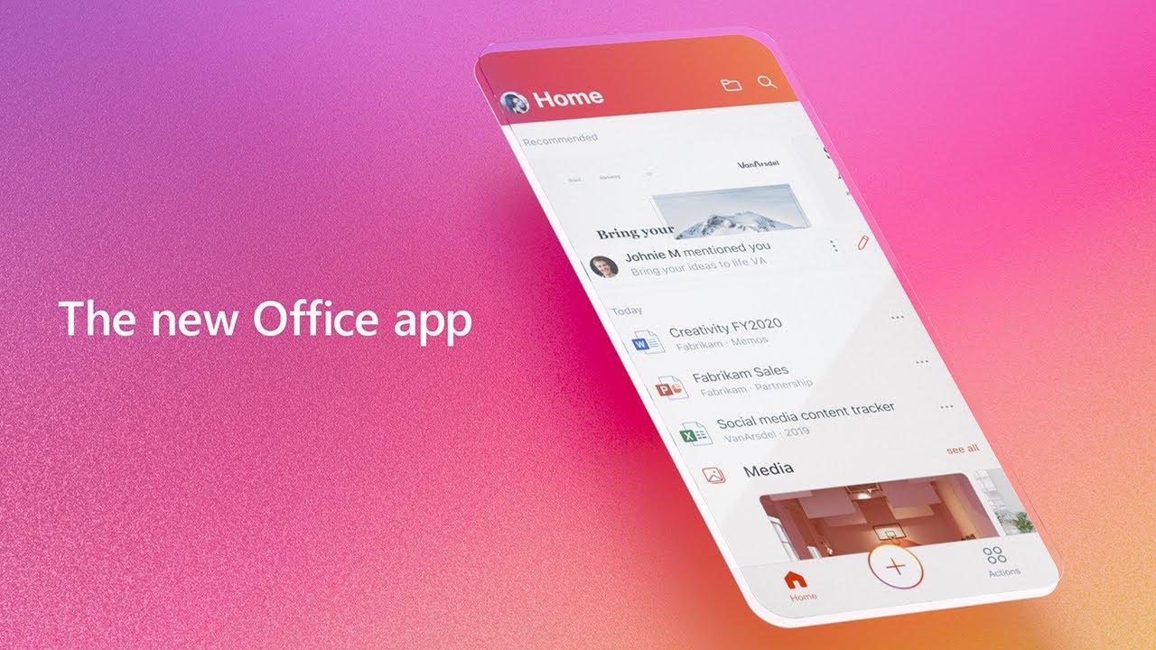 Resultado de imagen para Microsoft lanza oficialmente la nueva app de Office para iOS y Android que agrupa Word, Excel y Powerpoint