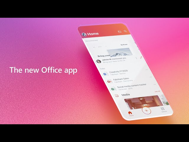 The Microsoft Office app – Word, Excel, PowerPoint & more