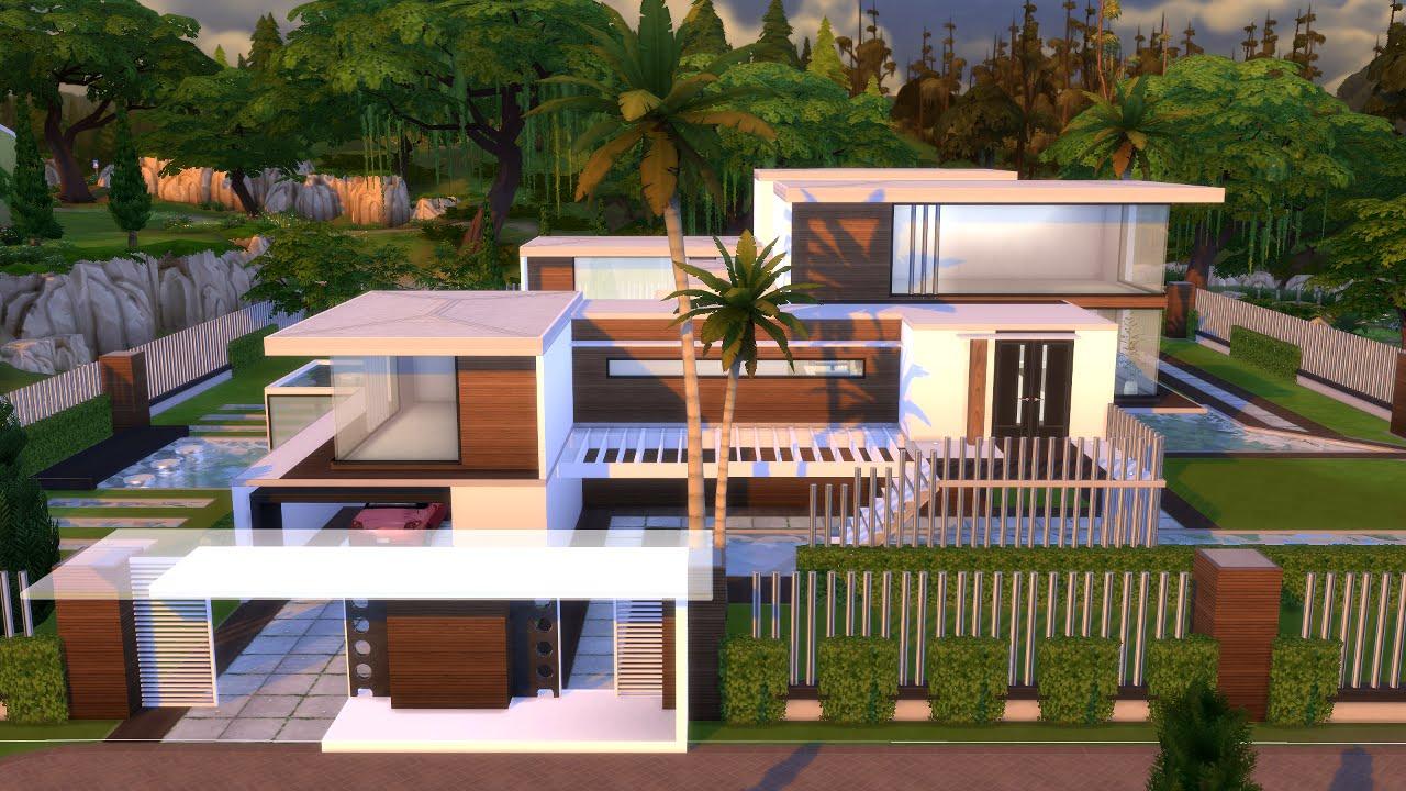 The sims 4 villa moderna modern house l a trailer for Modern house design the sims 4