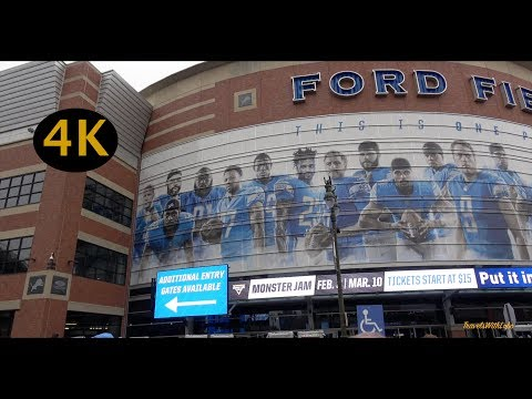 DETROIT SPORTS SCENE: Lions Tigers Red Wings Pistons – 4K – Vlog no. 14