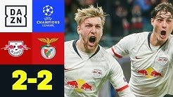 90+6! Forsberg ballert RB ins Achtelfinale: Leipzig - Benfica 2:2 | UEFA Champions League | DAZN