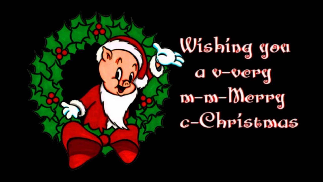 blue christmas porky pig - Porky Pig Sings Blue Christmas